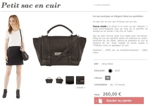 Comptoir sac